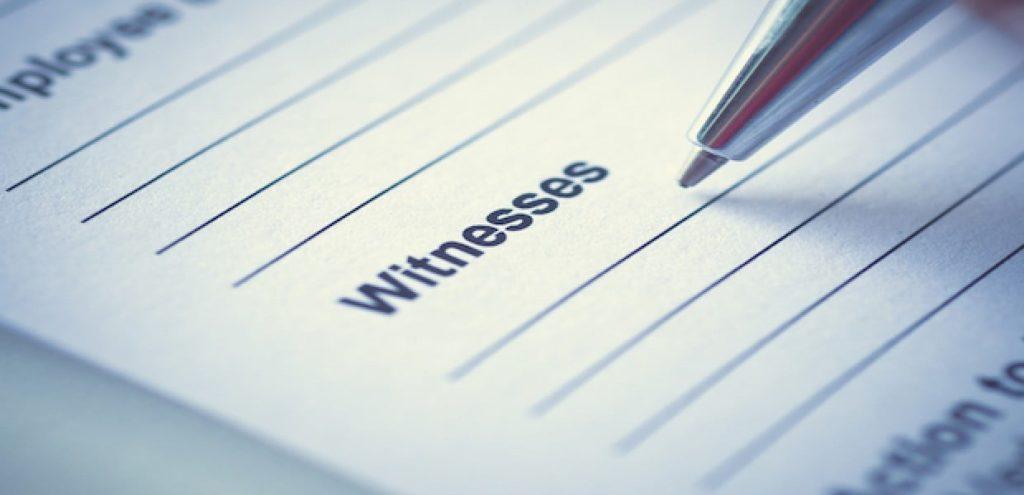 witness evidence litigation advice